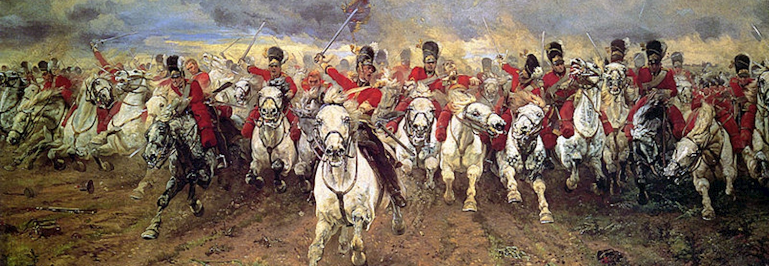 charge_of_the_scots_greys_at_waterloo