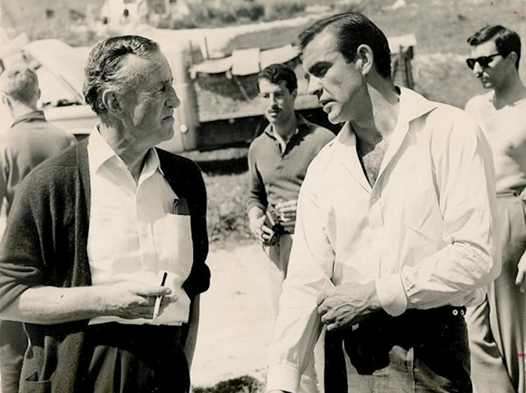 ian_fleming_on_james_bond_set_with_sean_connery
