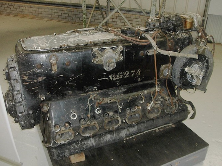 an_engine_from_rudolf_hesss_messerschmitt_bf110_on_display_in_scotland