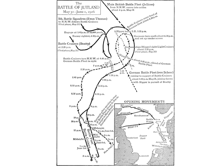 map_of_battle_of_jutland_showing_overview-_opening_movements_and_progress_of_battle