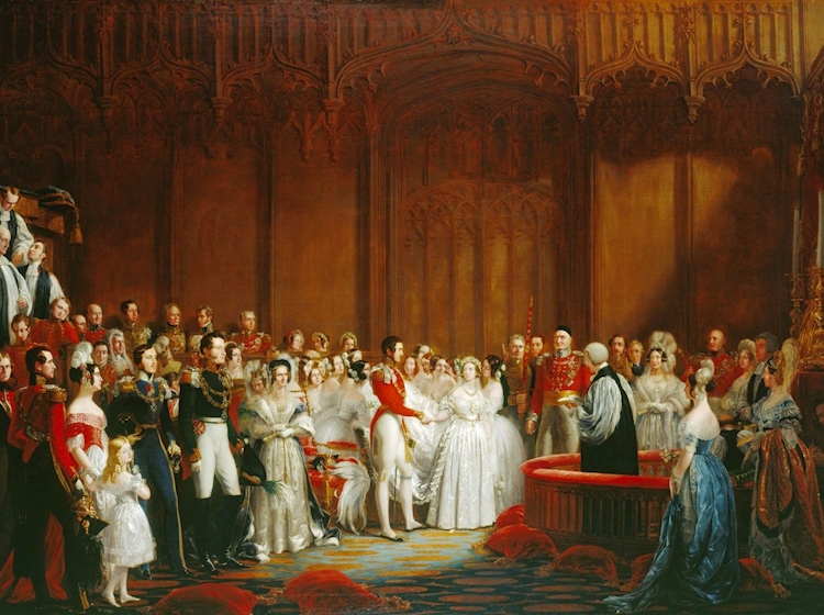 the_marriage_of_queen_victoria_painted_by_george_hayter_1840