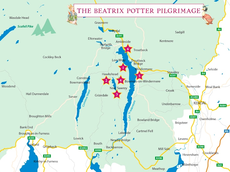 map_of_beatrix_potter_sites_to_visit_lake_district