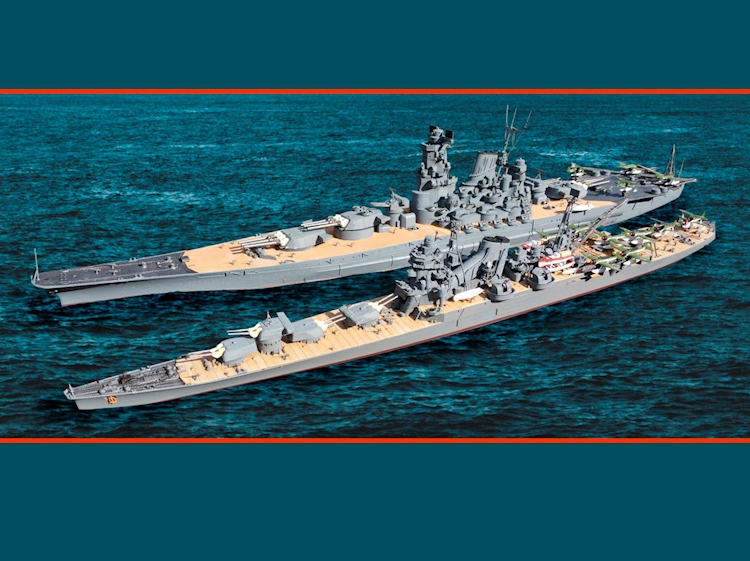 model_of_the_yamato_and_cruiser_tone_battle_of_midway