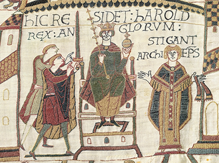 king_harold_on_throne_bayeux_tapestry
