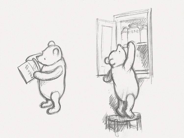 winnie_the_pooh_two_preparatory_sketches
