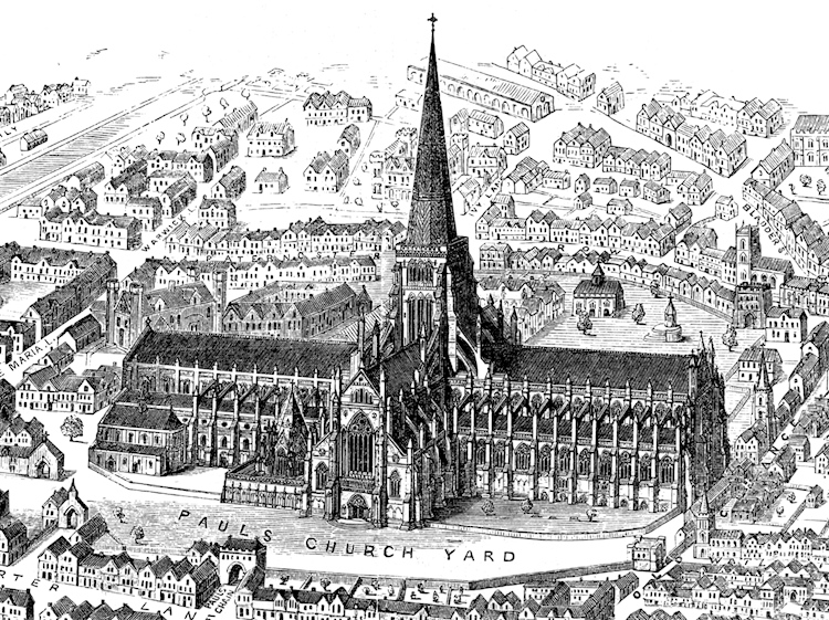 st_pauls_old_from_francis_bond_early_christian_architecture_last_book_1913
