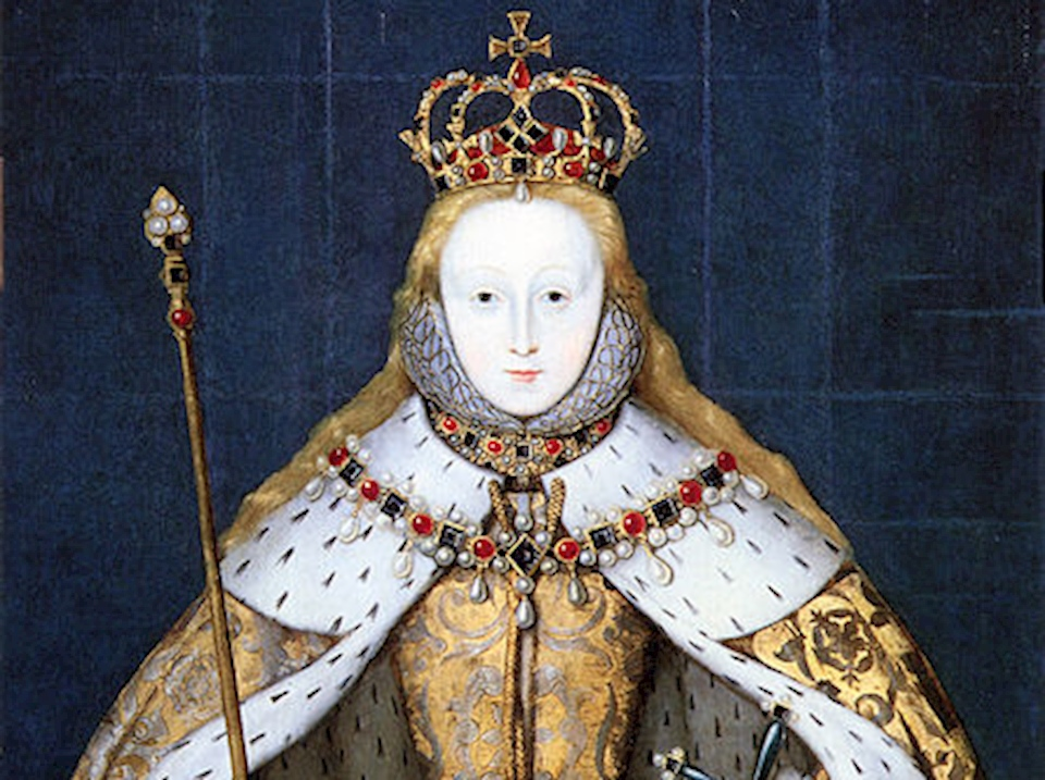 1a471fd4ad8 Queen Elizabeth in her coronation robes