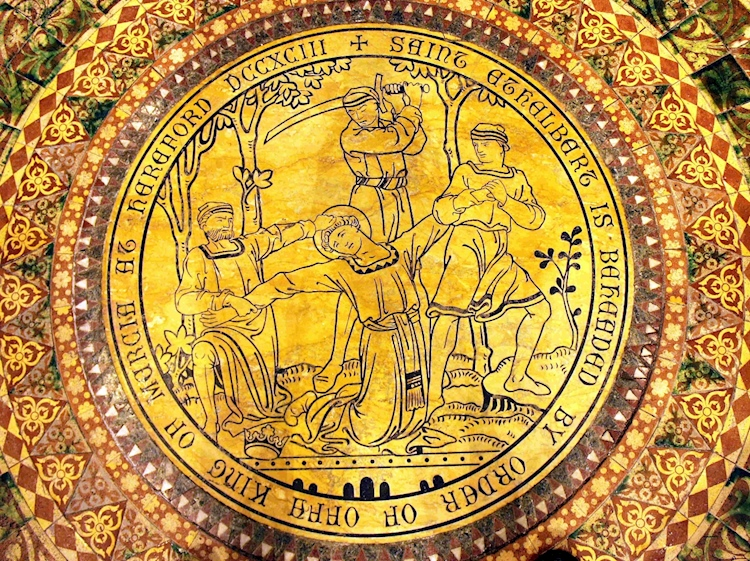 roundel_showing_king_ethelberts_murder_hereford_cathedral