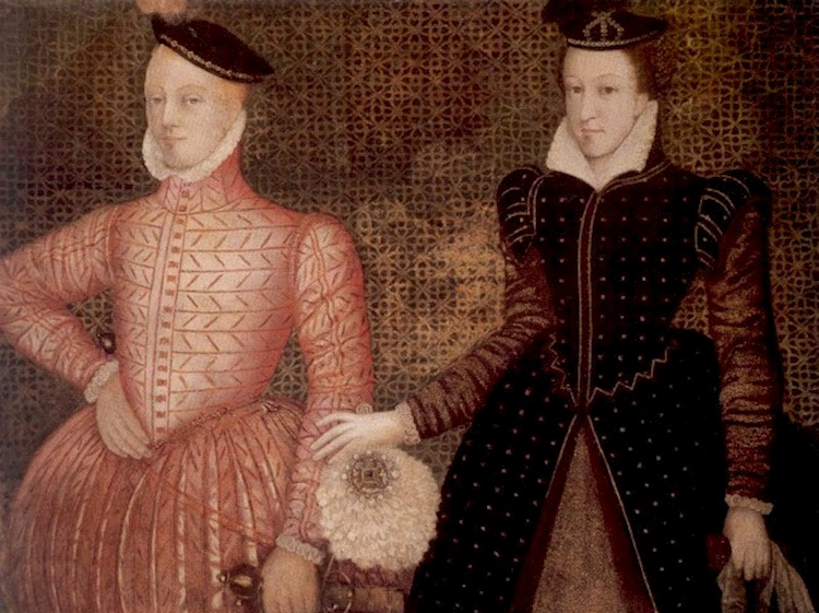 painting_at_hardwick_hall_showing_mary_stuart_queen_of_scots_with_her_second_husband_henry_lord_darnley