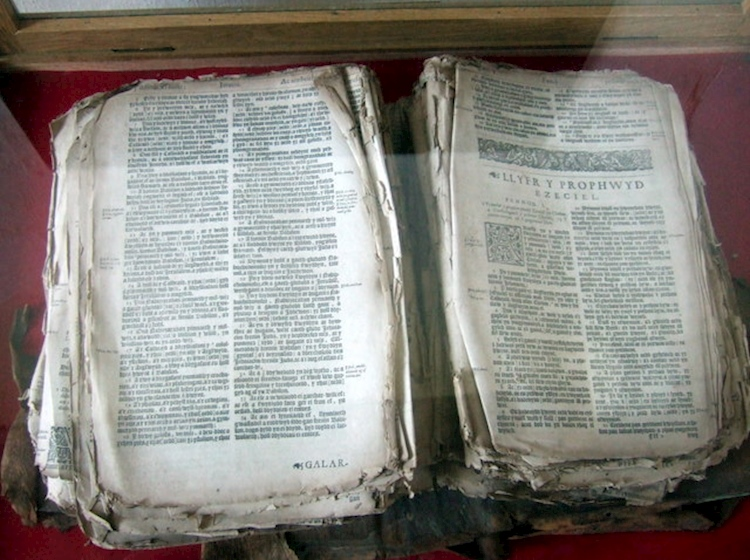bible_rescued_from_french_invaders_llanwnda_church_pembrokeshire_wales