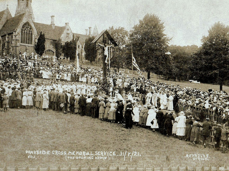 woodchester_wayside_cross_memorial_service_1921