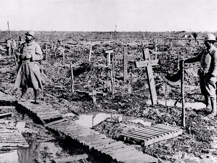 german_graves_on_passchendaele-s_fields-_with_two_french_soldiers_standing_watch