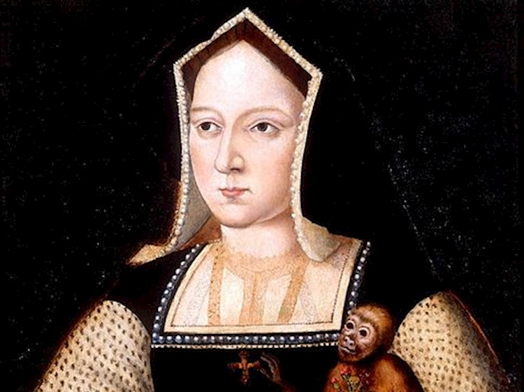 katharine_of_aragon_with_a_monkey_lucas_horenbout_1525
