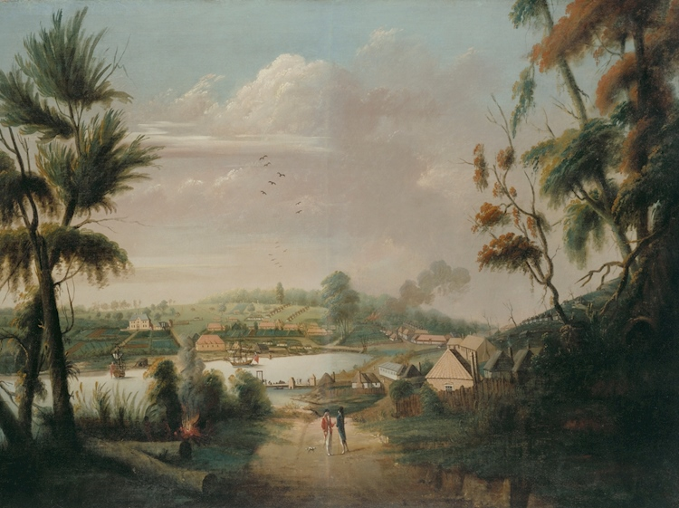 thomas_watling_a_direct_north_general_view_of_sydney_cove_1794
