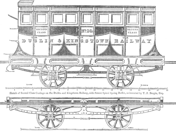 dublin_penny_journal_1835-12-26_dublin__kingstown_railway_second_class_carriage_by_e_heyden