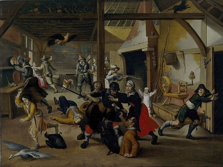 soldiers_plundering_a_farm_by_sebastian_vrancx_1620