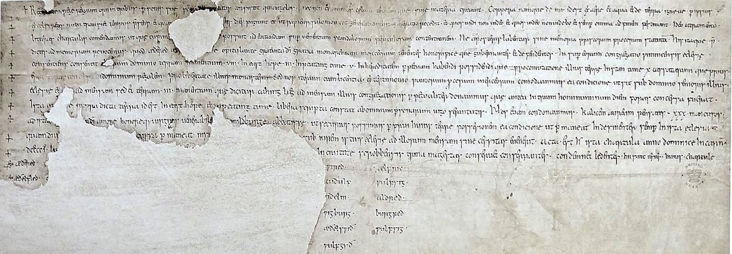 charter_s_221_dated_901_of_æthelred_and_ætheflaed_rulers_of_the_mercians