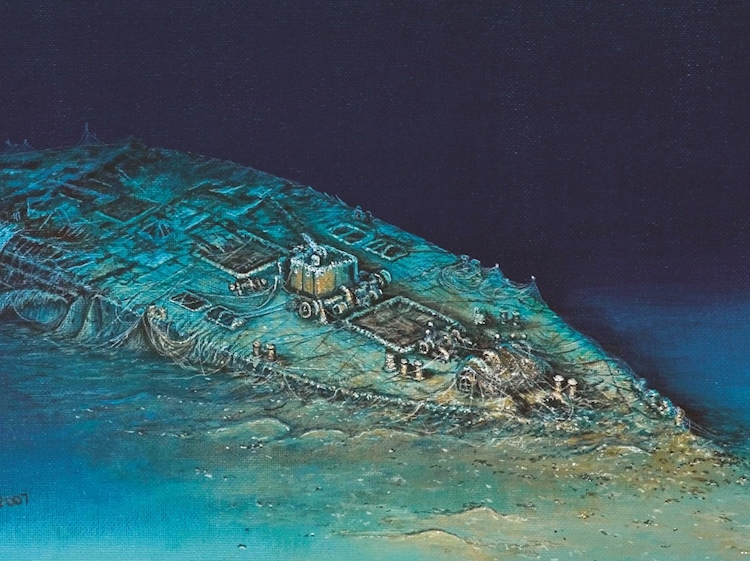 painting_of_carpathia_as_seen_by_divers_in_2007